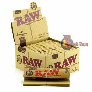 RAW Connoisseur King Size Slim Rolling Papers & Tips