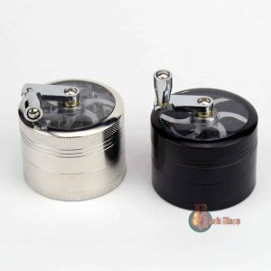 Herb Grinder | Aluminium 4 Part | Tobacco Metal Magnetic | Handle Crusher Mill
