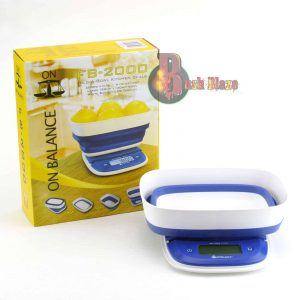 ON BALANCE FOLD A BOWL KITCHEN SCALESS – 2000g x 0.1g
