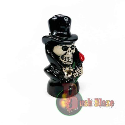 Skull in Top Hat Ceramic Bong