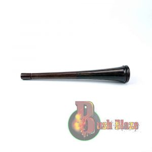 Carved Black Wood Chillum – Shahnai 20 cm