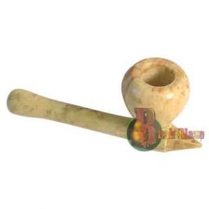 Soapstone Mushroom Pipe with Case