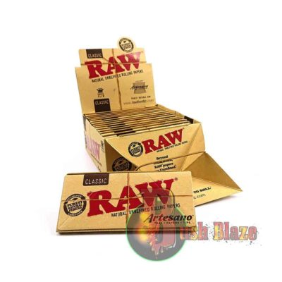 RAW Artesano Classic King Size Slim Rolling Papers, Tips & Tray