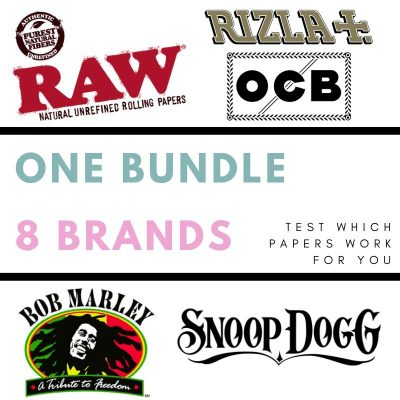 The Best Rolling Papers Bundle – 8 Packs & RAW Paper Holder