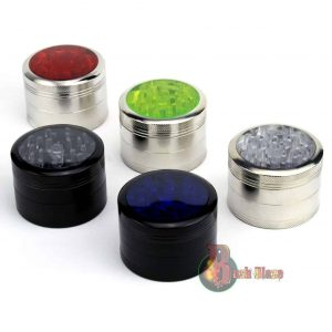 Herb Grinder | Aluminium 4 Part | Tobacco Metal Magnetic | Coloured Crusher Mill